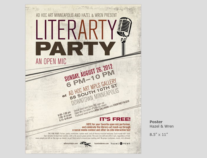 Literarty Party Poster